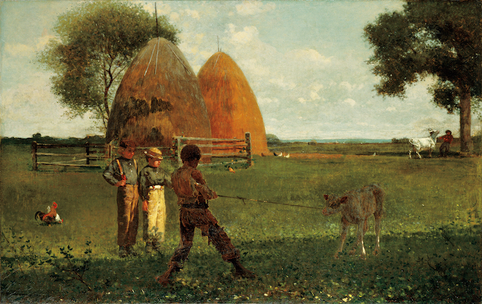 On Winslow Homer's Weaning the Calf
